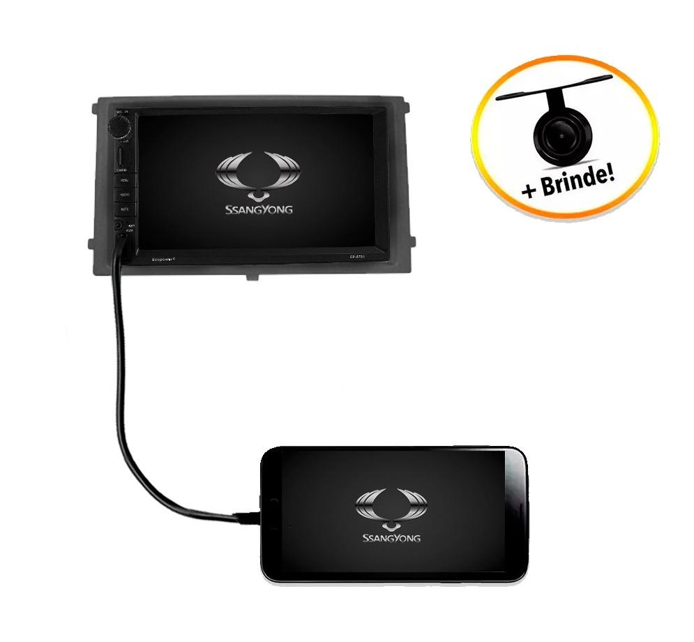 Central Multimídia Ssangyong Rexton TV Digital GPS Espelha IOS e Android