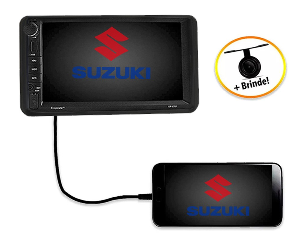 Central Multimídia Suzuki  JIMNY TV Digital GPS Espelha IOS e Android