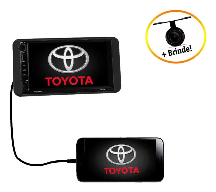 Central Multimídia Toyota Corolla 2003 à 2007 Gps TV Bluetooth Espelha Android e IOS