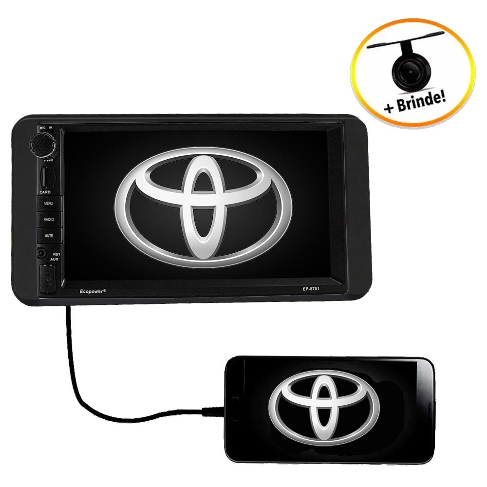 Central Multimídia TOYOTA COROLLA 2003 TV Digital GPS Espelha IOS e Android