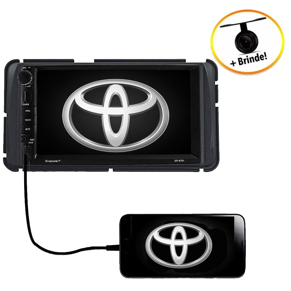 Central Multimídia TOYOTA COROLLA GLI 2015  TV Digital GPS Espelha IOS e Android