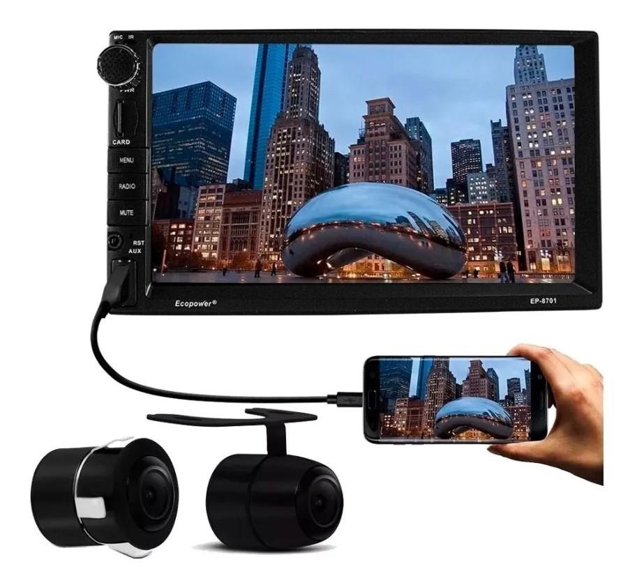 Central Multimídia Universal Gps Usb Bluetooth Espelhamento de Ios e Android