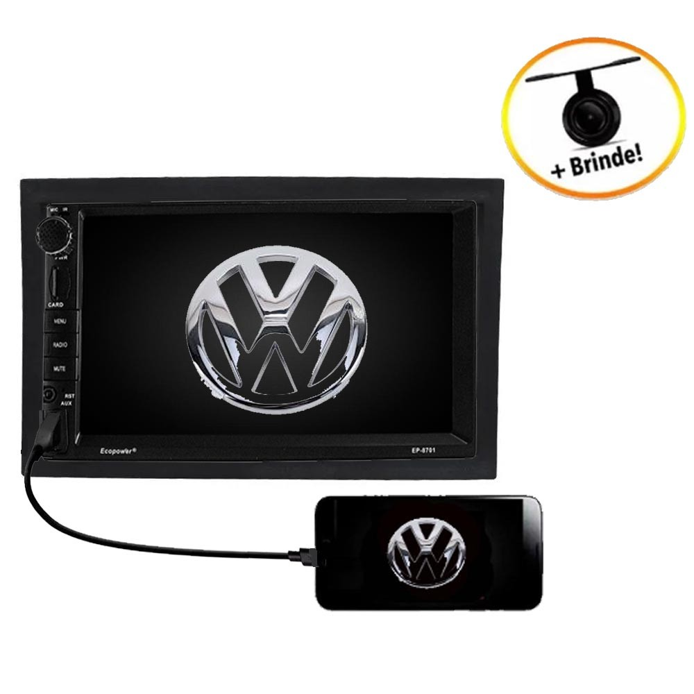 Central Multimídia VW  FOX TV Digital GPS Espelha IOS e Android