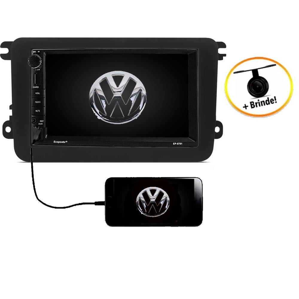Central Multimídia VW  NOVO FUSCA  TV Digital GPS Espelha IOS e Android
