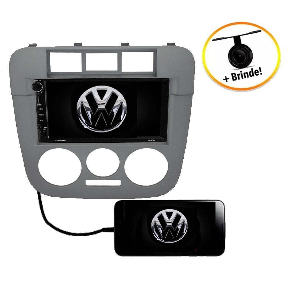 Central Multimídia VW Saveiro G4 TV Digital GPS Espelha IOS e Android