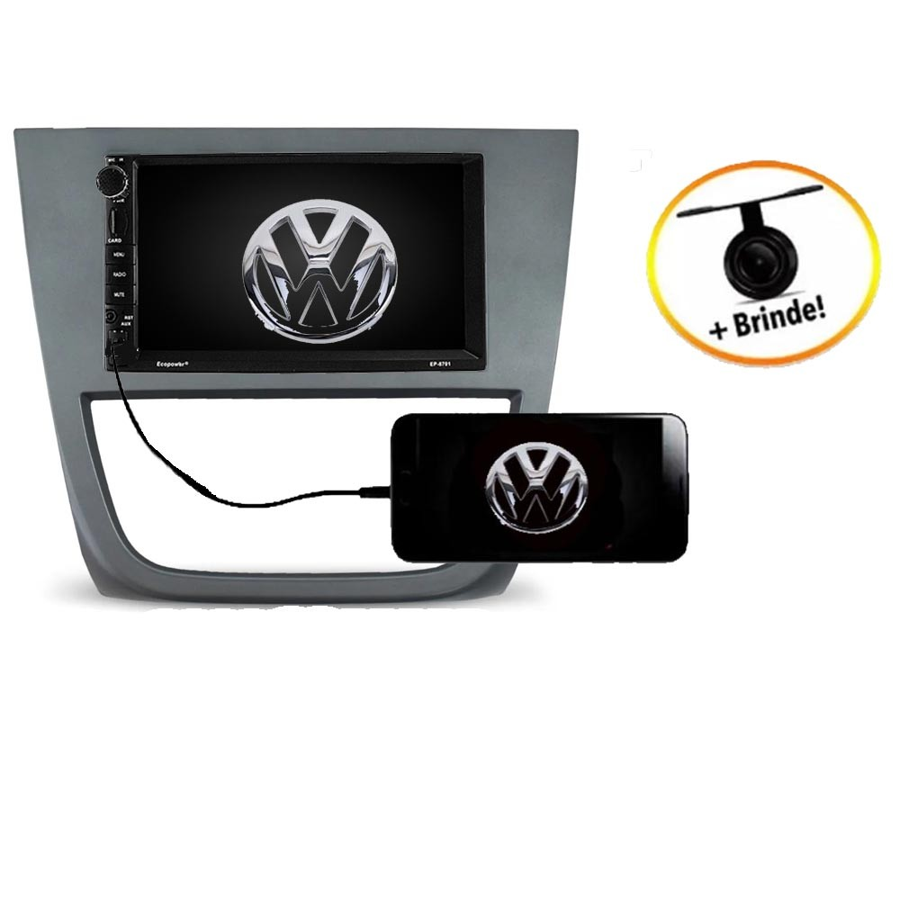 Central Multimídia VW Saveiro G5 TV Digital GPS Espelha IOS e Android