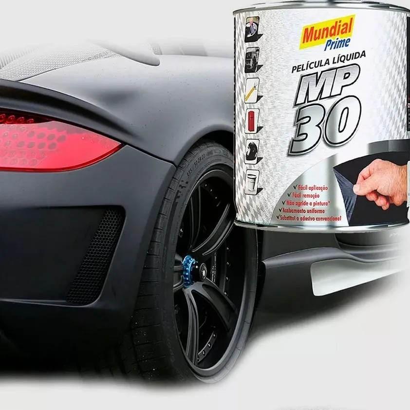 Envelopamento Automotivo Película Líquida 900ml Preto Mundial Prime