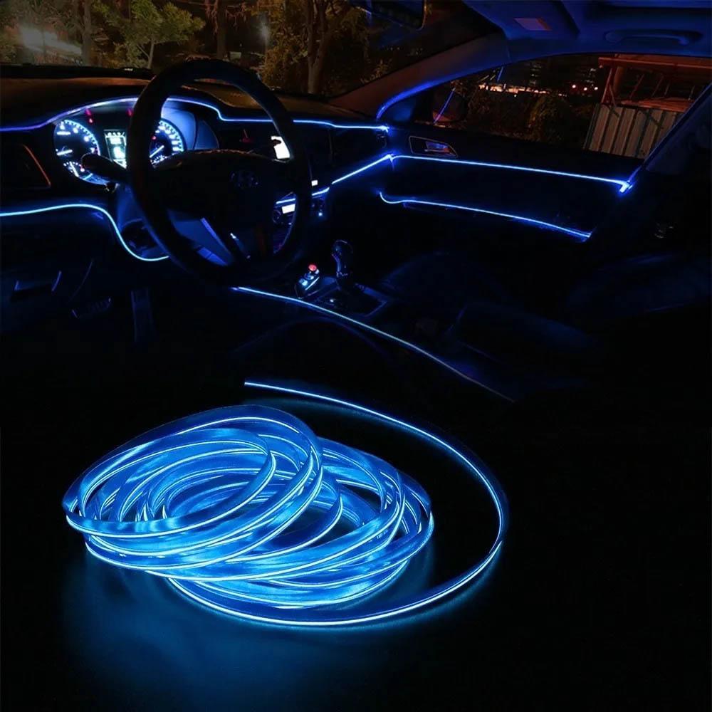 Fita Led Azul 5 Metros Painel Inteiro De Carro Neon