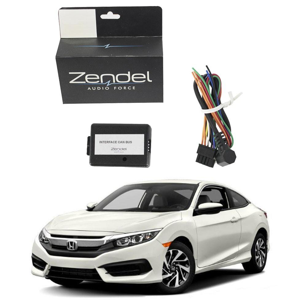 Interface de Volante Honda New Civic 2012 em Diante Canbus Zendel