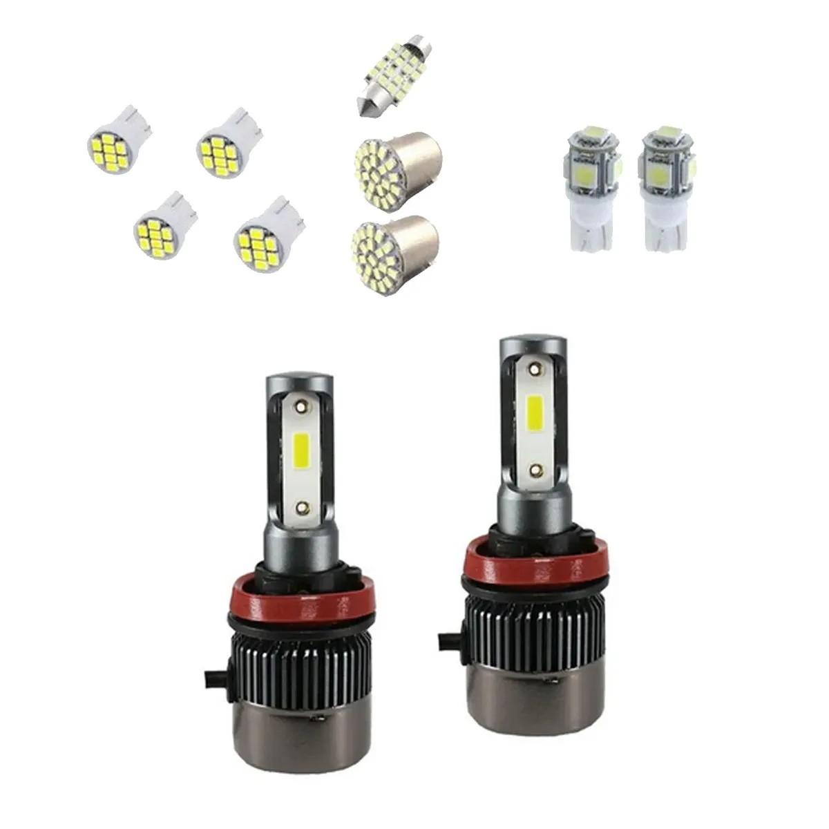 Kit Lâmpadas Ultra Led Full R9 6000k 9000 Lúmens 12v 24v H4 + Kit Leds Interior Cortesia