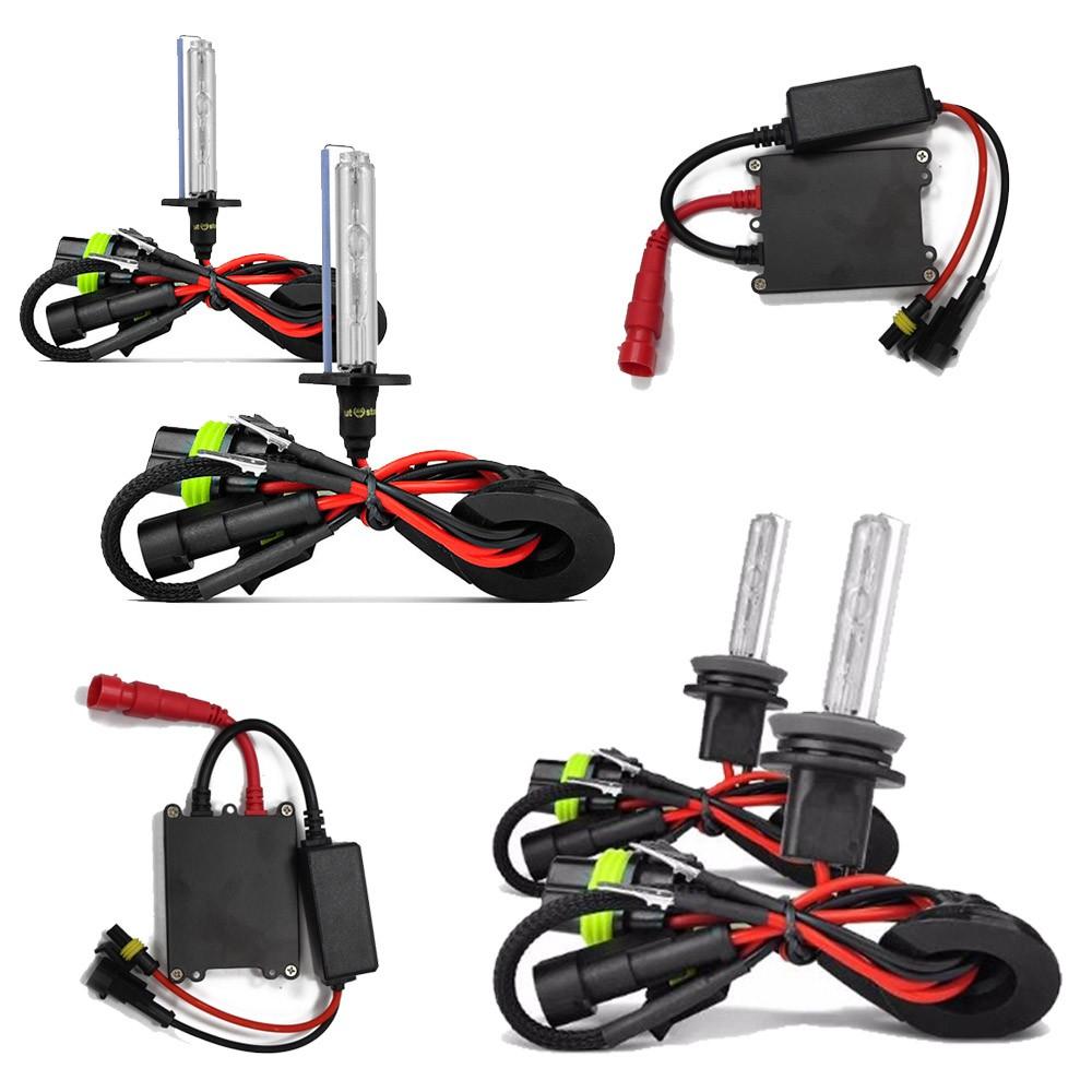 Kit Xenon H11 6000K + Kit Xenon H7 8000K 35w 12v Completo com Reator