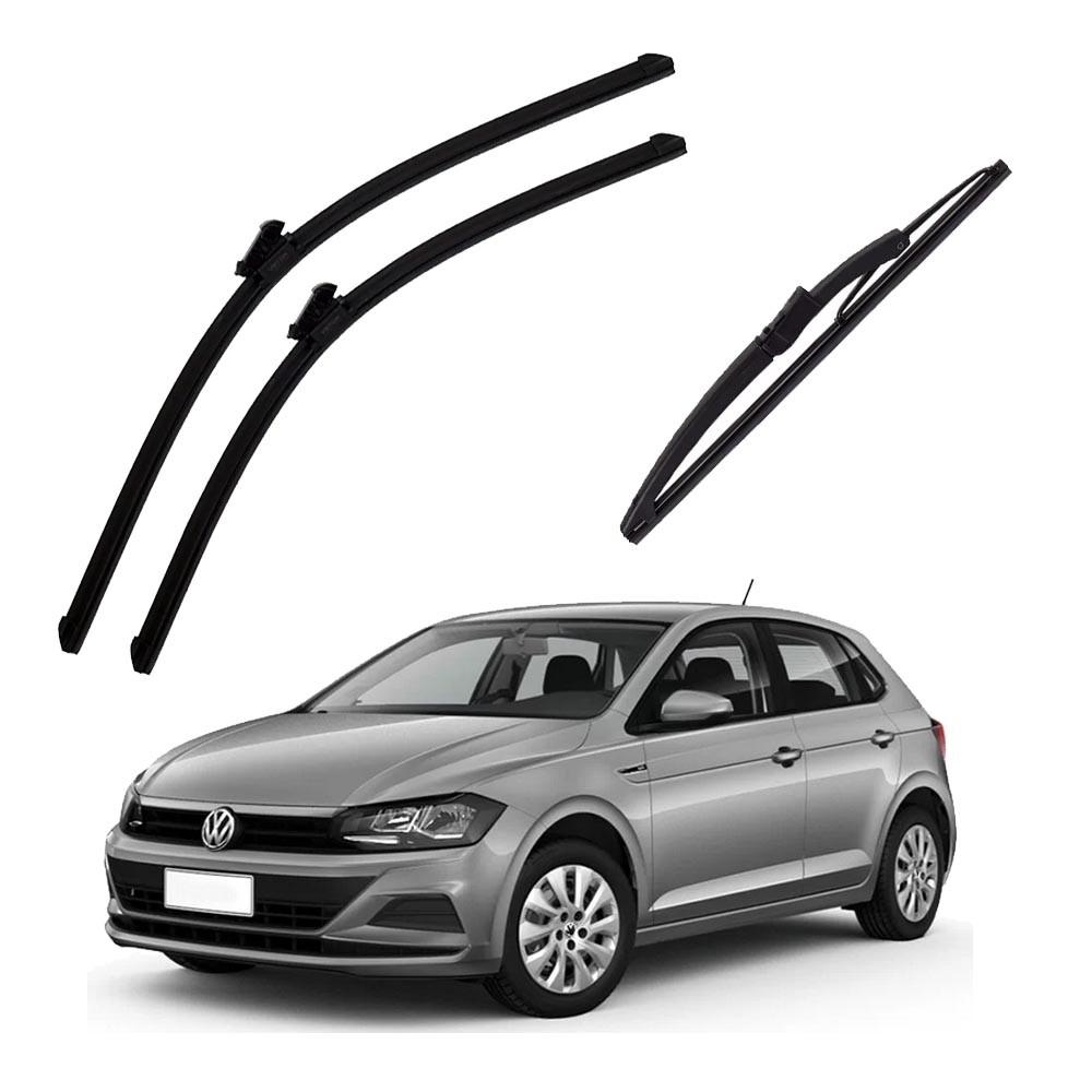 Palheta Limpa Parabrisa Dianteira e Traseira Volkswagen Polo 2018 à 2020