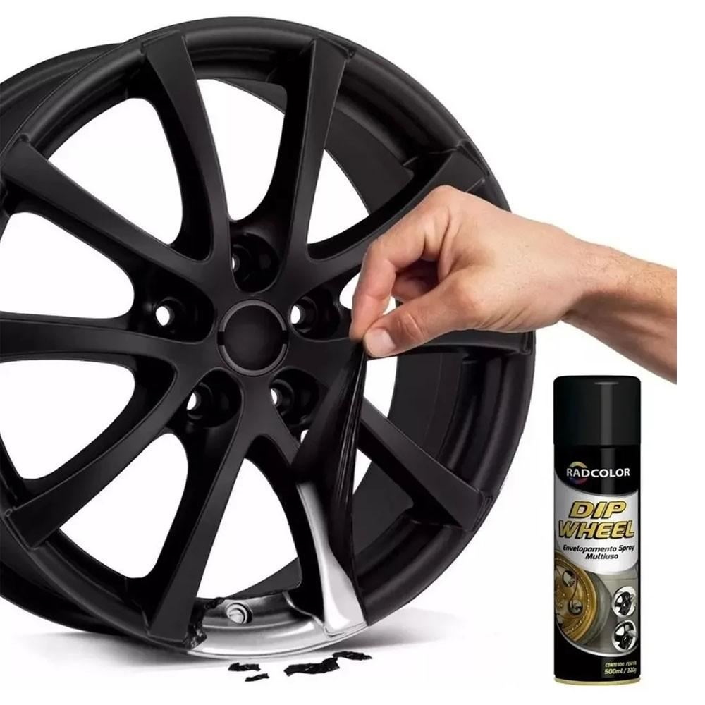 Spray Envelopamento Líquido Película Dip Wheel Preto 500ml