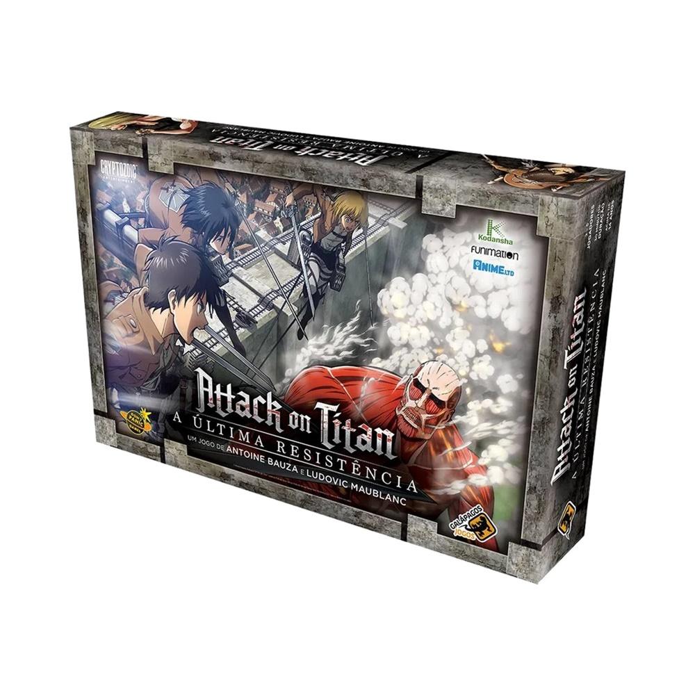 Attack on Titan: A Última Resistencia - Jogo de Tabuleiro - Galápagos Jogos (em português)