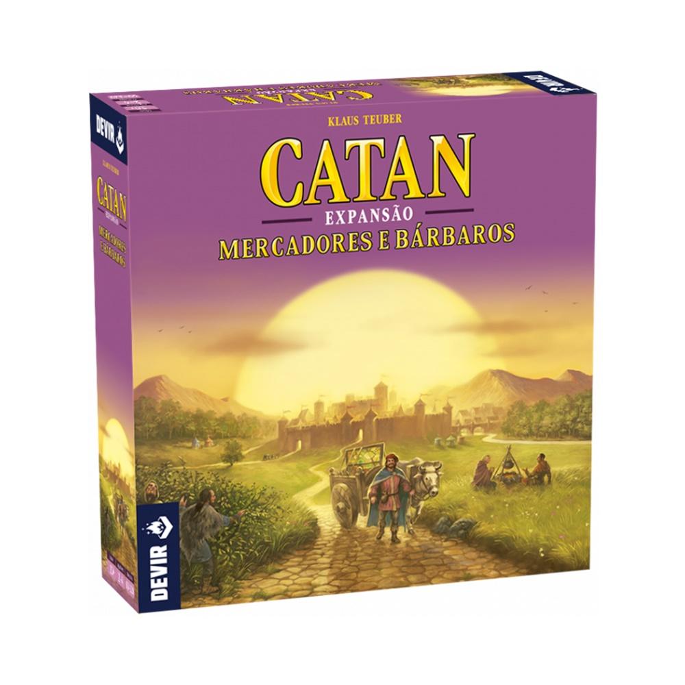 Catan Mercadores e Bárbaros - Expansão - Editora Devir (em português)