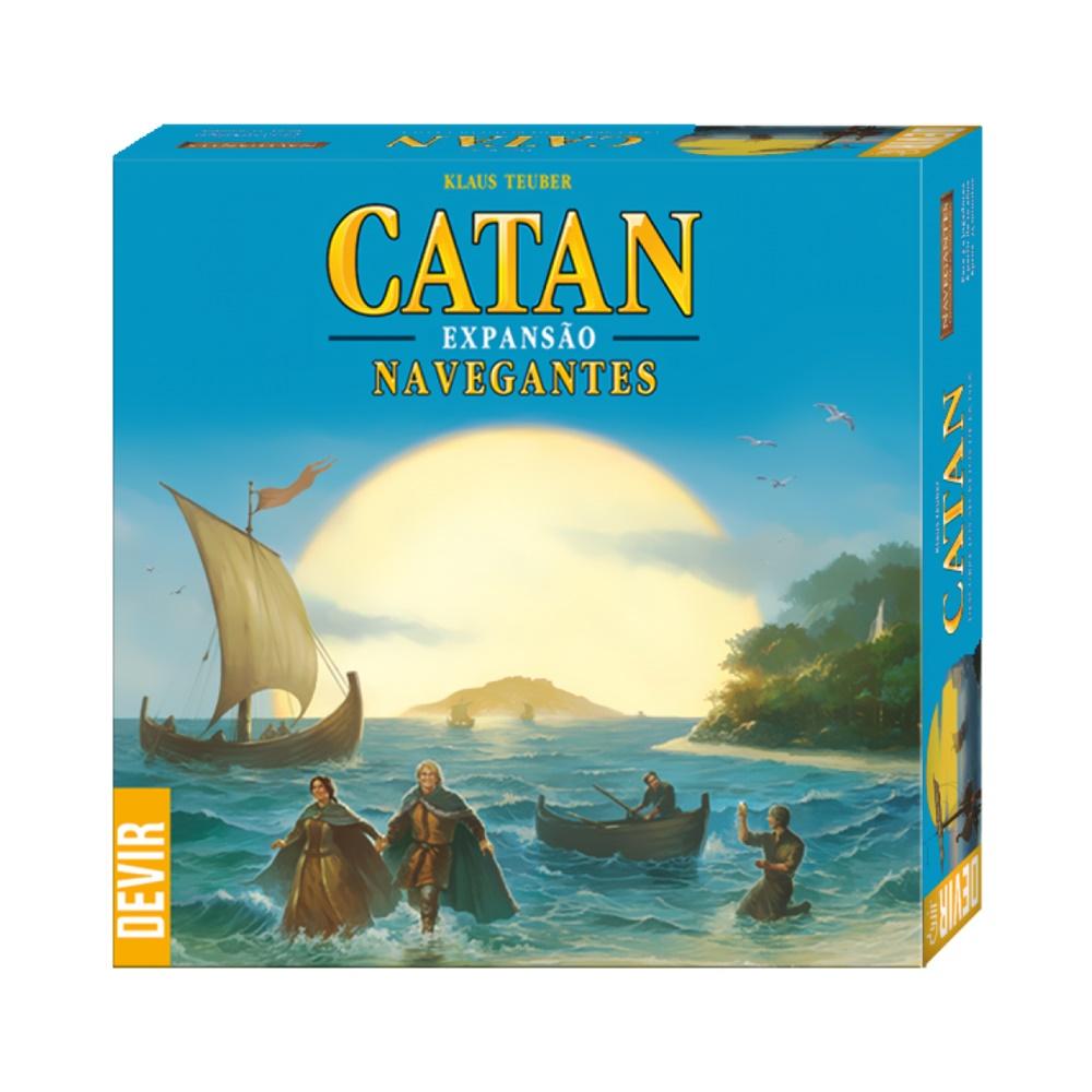 Catan: Navegantes - Expansão Jogo de Tabuleiro - Editora Devir (em português)