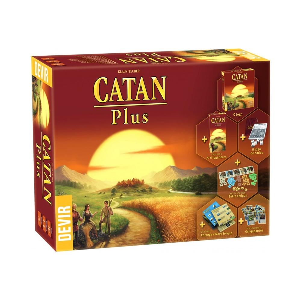 Catan Plus - Jogo de Tabuleiro - Editora Devir (em português)