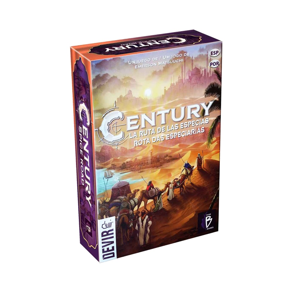 Century Rota das Especiarias - Jogo de Tabuleiro - Editora Devir (em português)