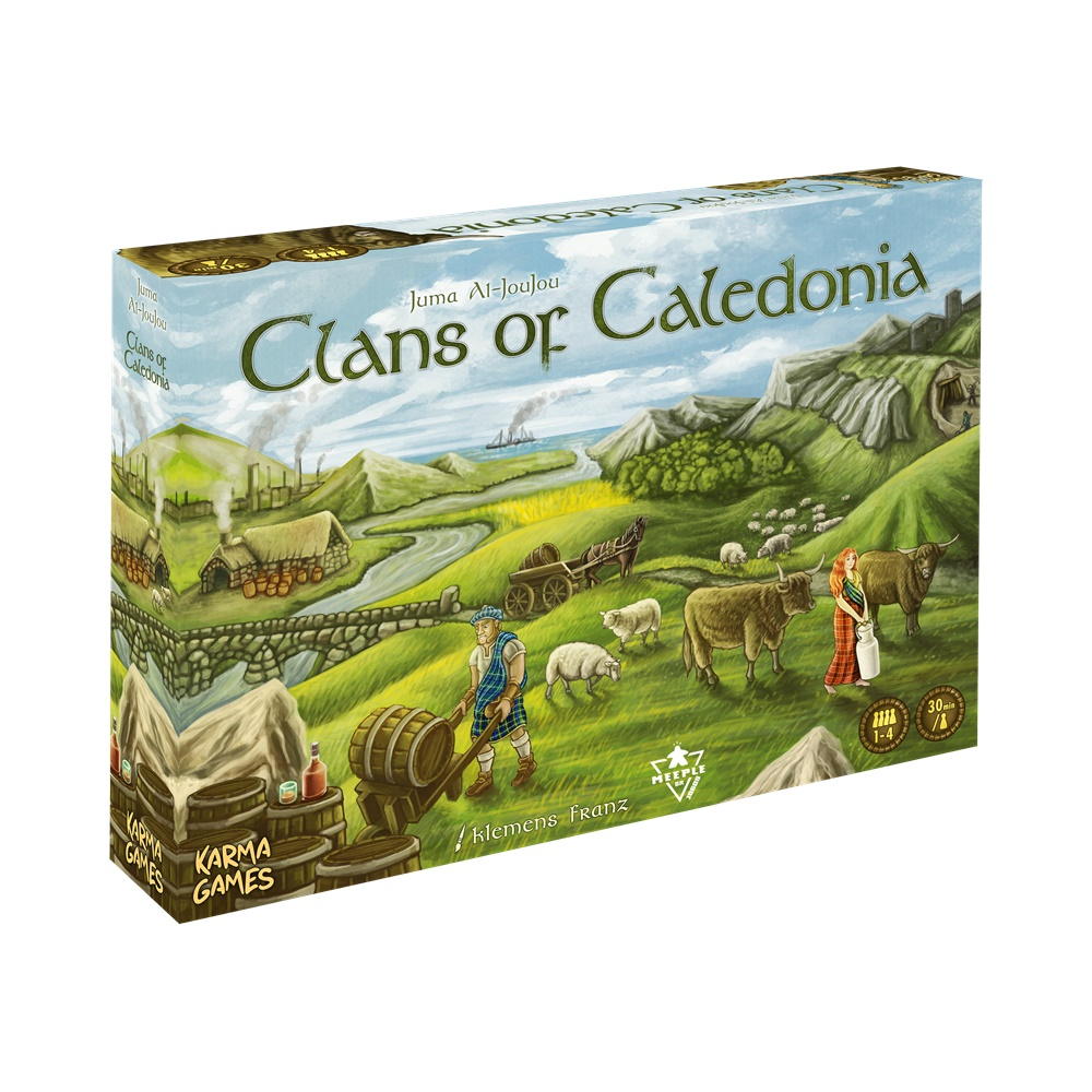 Clans da Caledônia - Jogo de Tabuleiro - MeepleBR (em português)