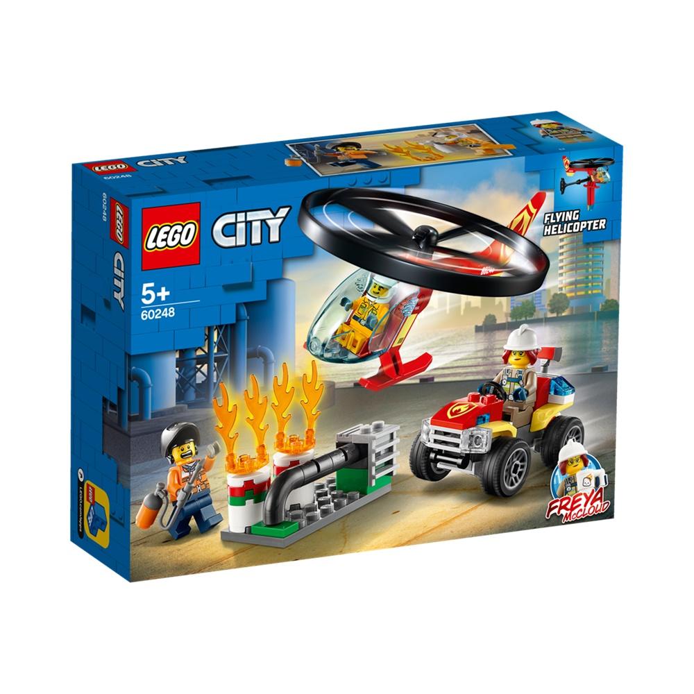 Combate ao Fogo com Helicóptero - Lego City 60248 - 93 Peças