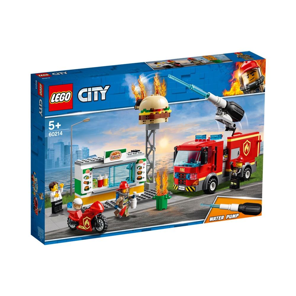 Combate ao Fogo no Bar de Hamburgueres - Lego City 60214 - 327 Peças