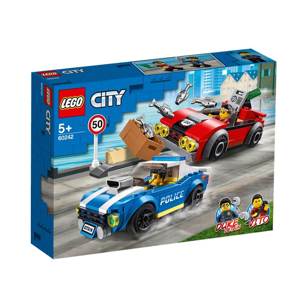 Detenção Policial na Autoestrada - Lego City 60242 - 185 Peças