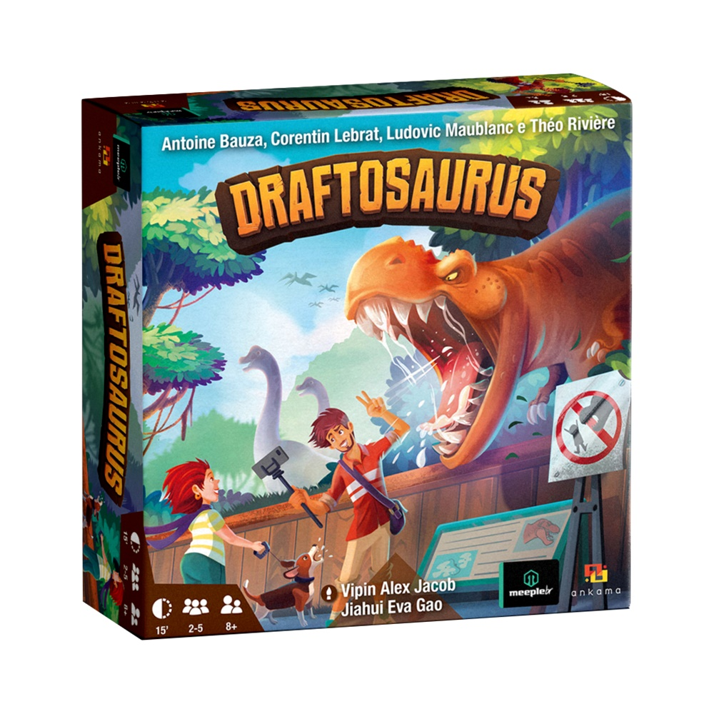 Draftosaurus - Jogo de Tabuleiro - MeepleBR (em português)