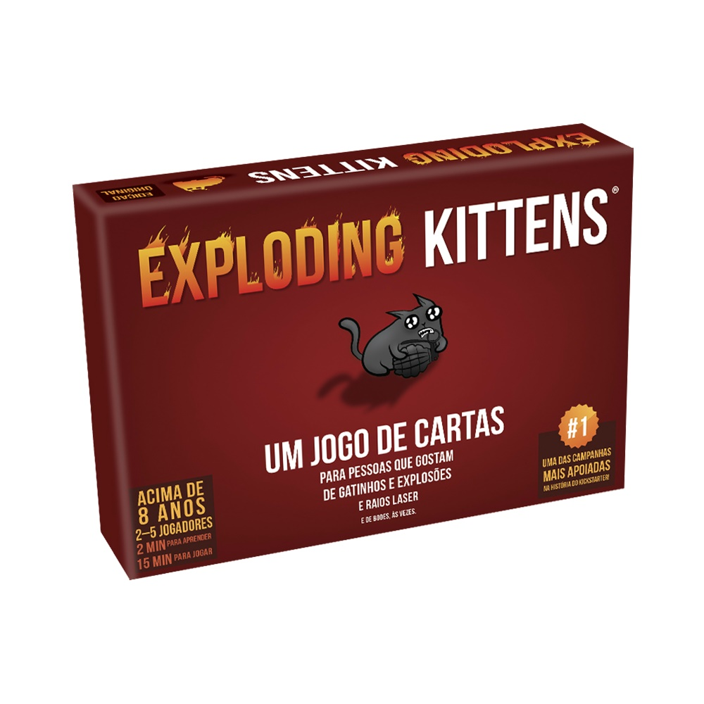 Exploding Kittens - Jogo de Cartas - Galápagos Jogos (em português)