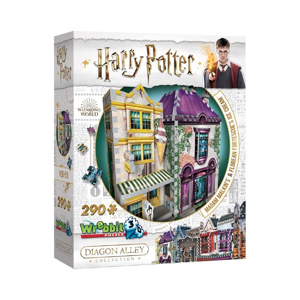 Harry Potter Beco Diagonal: Madame Malkin e Sorveteria do Florean Fortescue - Quebra Cabeça 3D