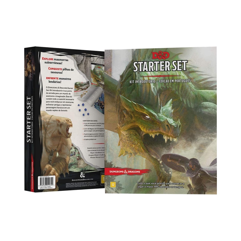 Kit Introdutório (Starter Set) - Livro de RPG - Dungeons and Dragons (D&D)