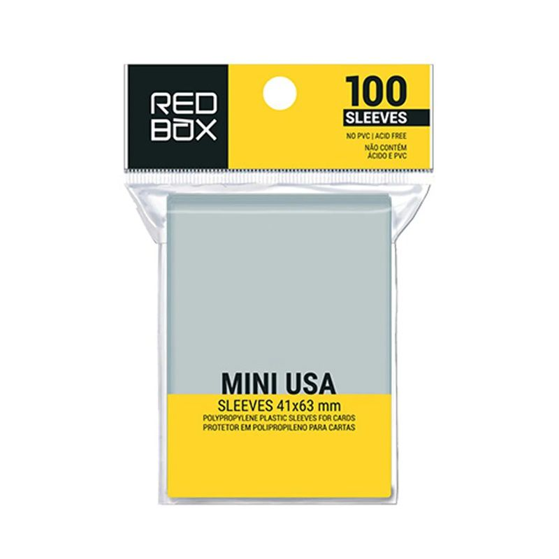 Mini USA (Protetor de Carta) 41 x 63mm - Sleeve Editora Redbox