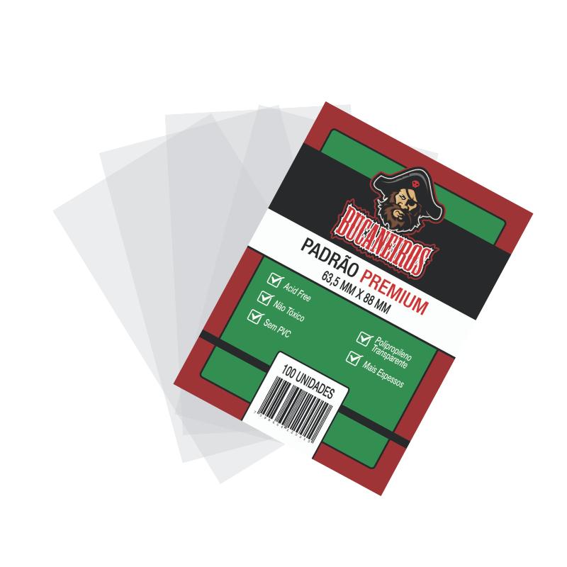 Padrão Premium (Protetor de Carta) 63,5 x 88 mm - Sleeves Bucaneiros Jogos
