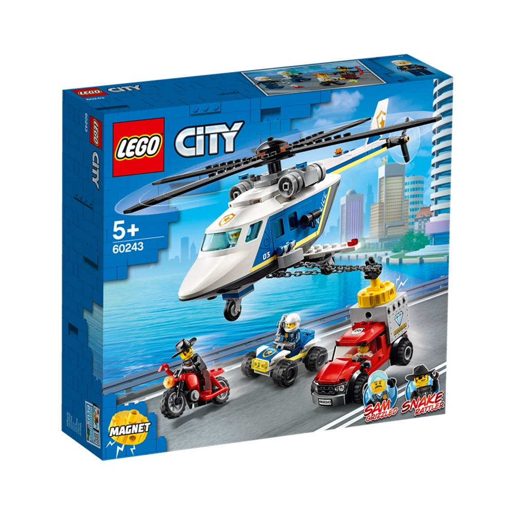 Perseguição Policial de Helicóptero - Lego City 60243 - 212 Peças