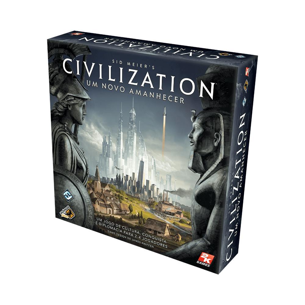 Sid Meiers Civilization: Um Novo Amanhecer - Jogo de Tabuleiro - Galápagos Jogos (em português)