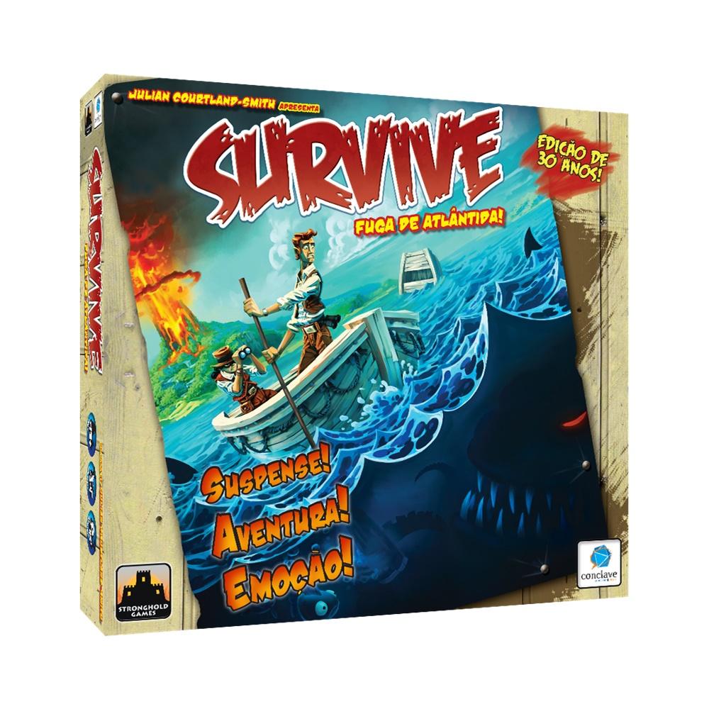 Survive: Fuga de Atlântida (30º Aniversário) - Jogo de Tabuleiro - Conclave Editora (em português)
