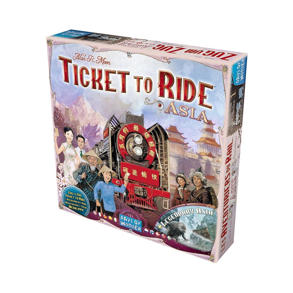 Ticket to Ride: Asia - Expansao Jogo de Tabuleiro - Galápagos (PT-BR)