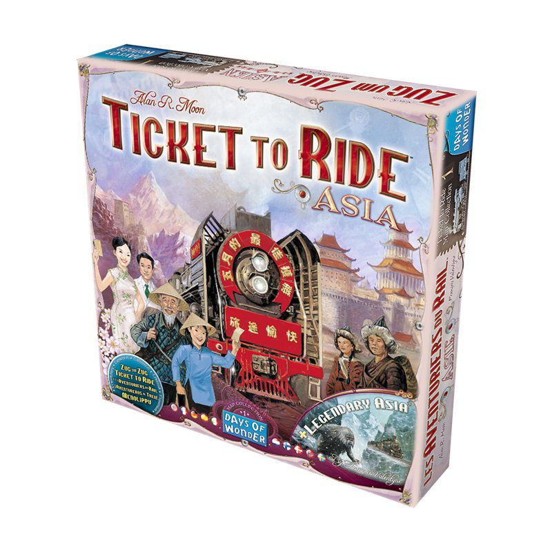 Ticket To Ride Asia + Sleeves