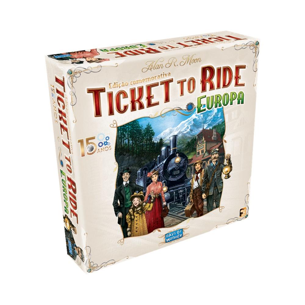 Ticket to Ride Europa: 15 Anos - Edição Comemorativa - Jogo de Tabuleiro - Galápagos Jogos (em português)