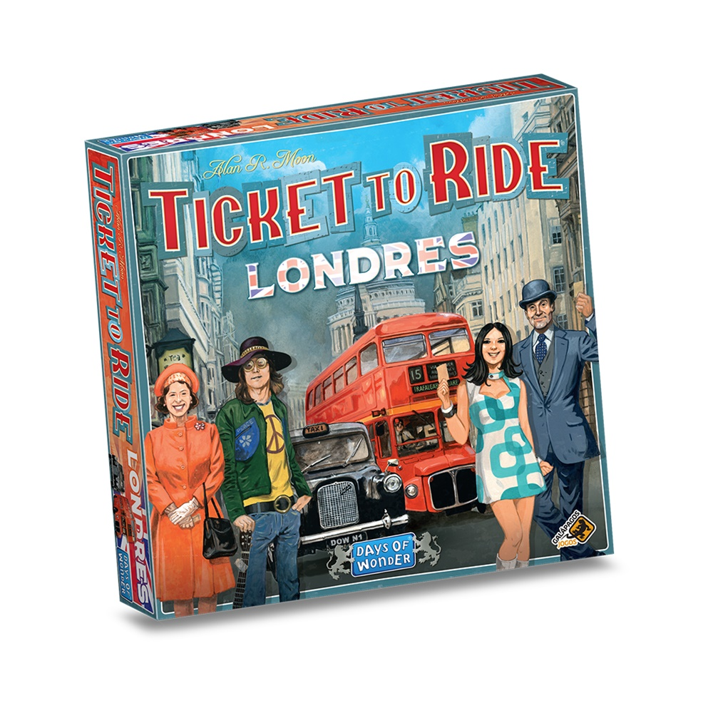 Ticket to Ride Londres - Jogo de Tabuleiro - Galápagos Jogos (PT-BR)