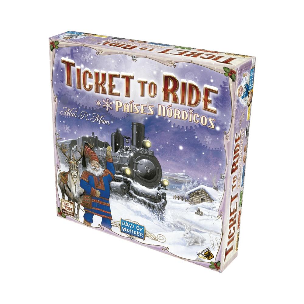 Ticket to Ride Paises Nordicos - Jogo de Tabuleiro - Galápagos Jogos (em português)