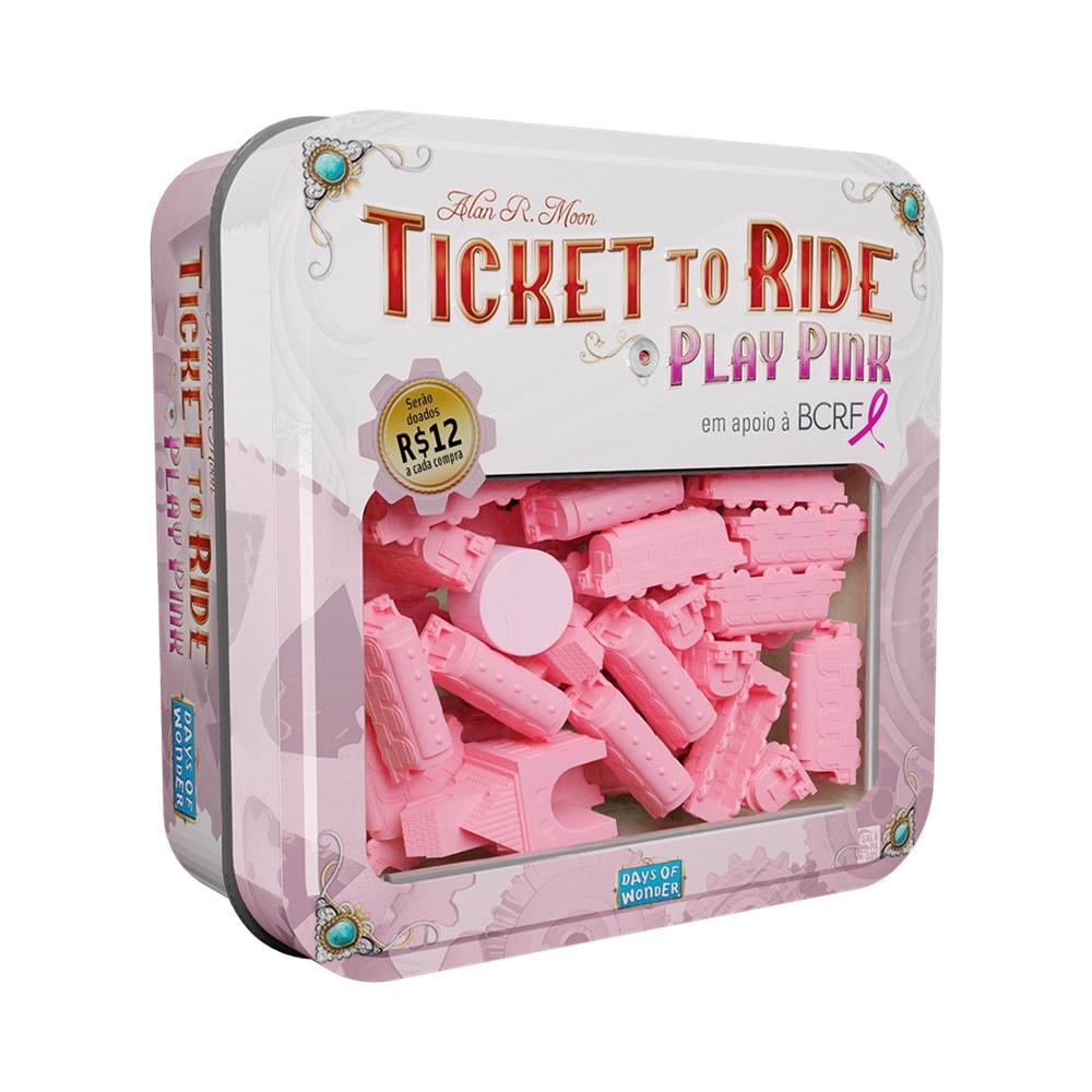 Ticket to Ride Play Pink - Expansão - Galápagos Jogos (em português)