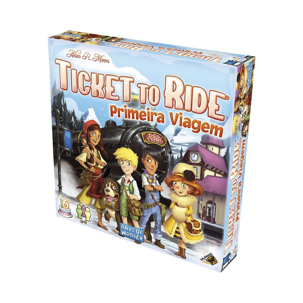Ticket to Ride Primeiras Viagens - Jogo de Tabuleiro - Galápagos Jogos (em português)