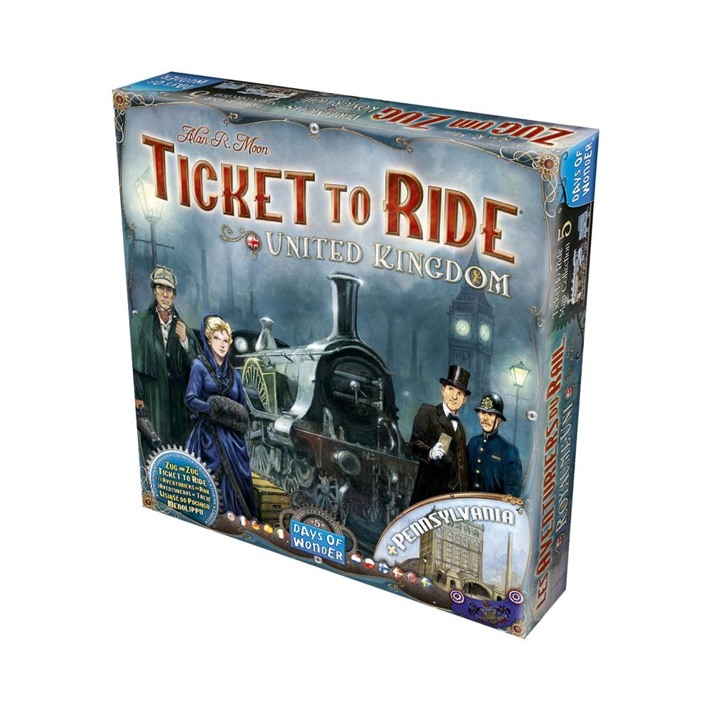 Ticket to Ride: Reino Unido - Expansao Jogo de Tabuleiro - Galápagos (PT-BR)