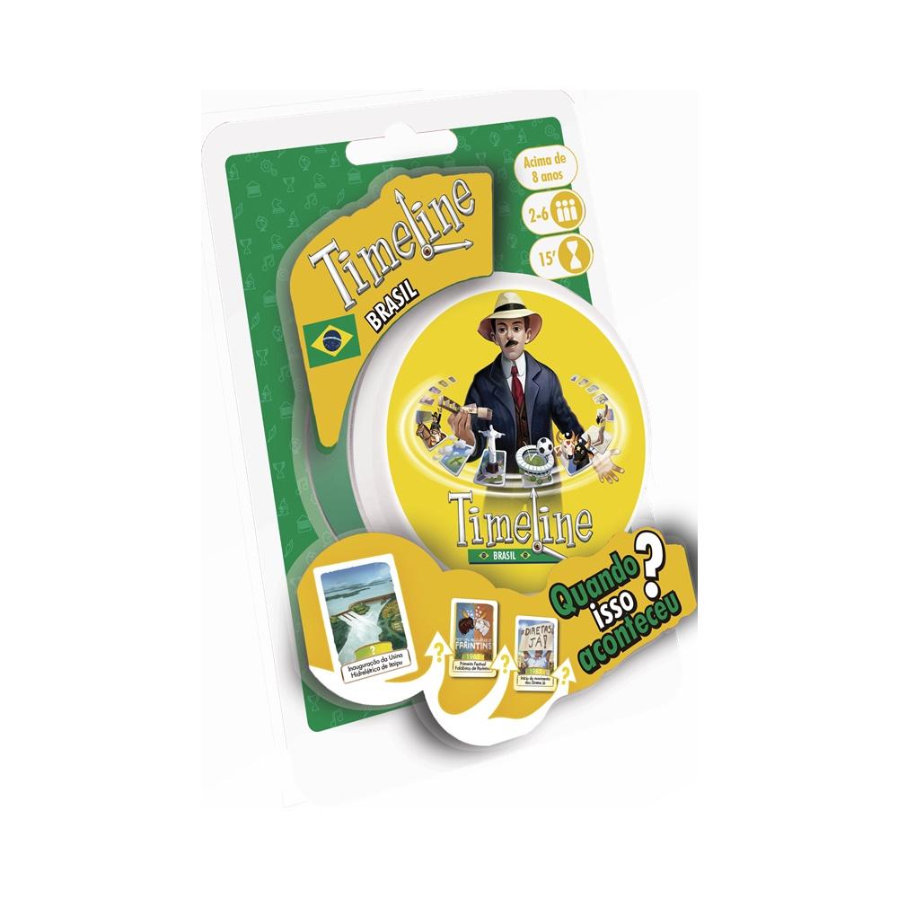 Timeline Brasil (Blister) - Jogo de Cartas - Galápagos Jogos (PT-BR)
