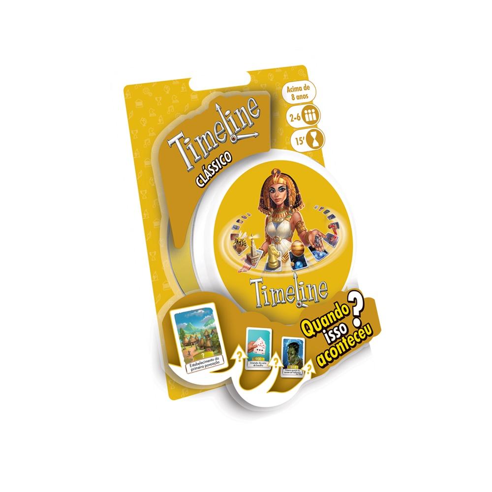 Timeline Classico (Blister) - Jogo de Cartas - Galápagos Jogos (em português)