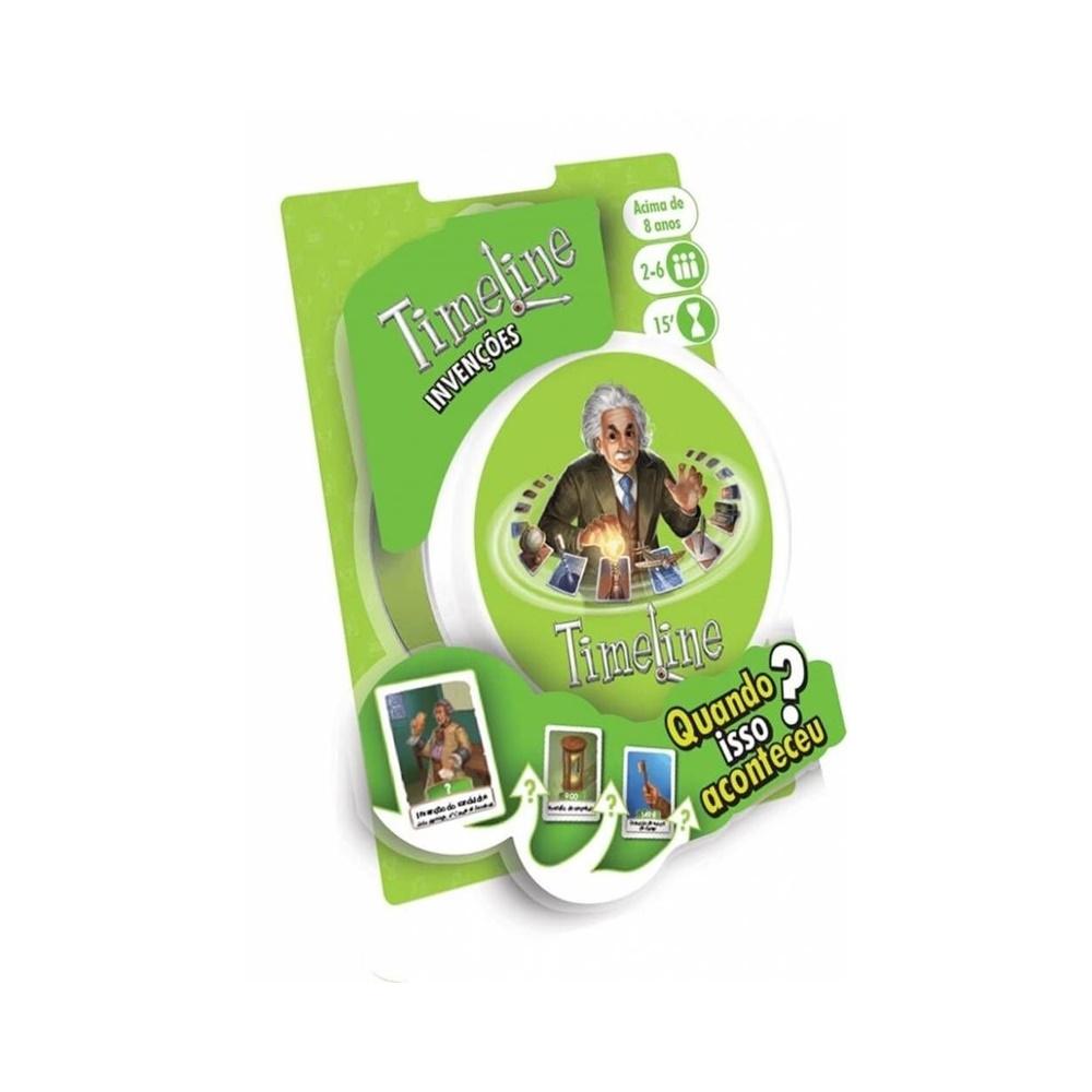 Timeline Invenções (Blister) - Jogo de Cartas - Galápagos Jogos (em português)