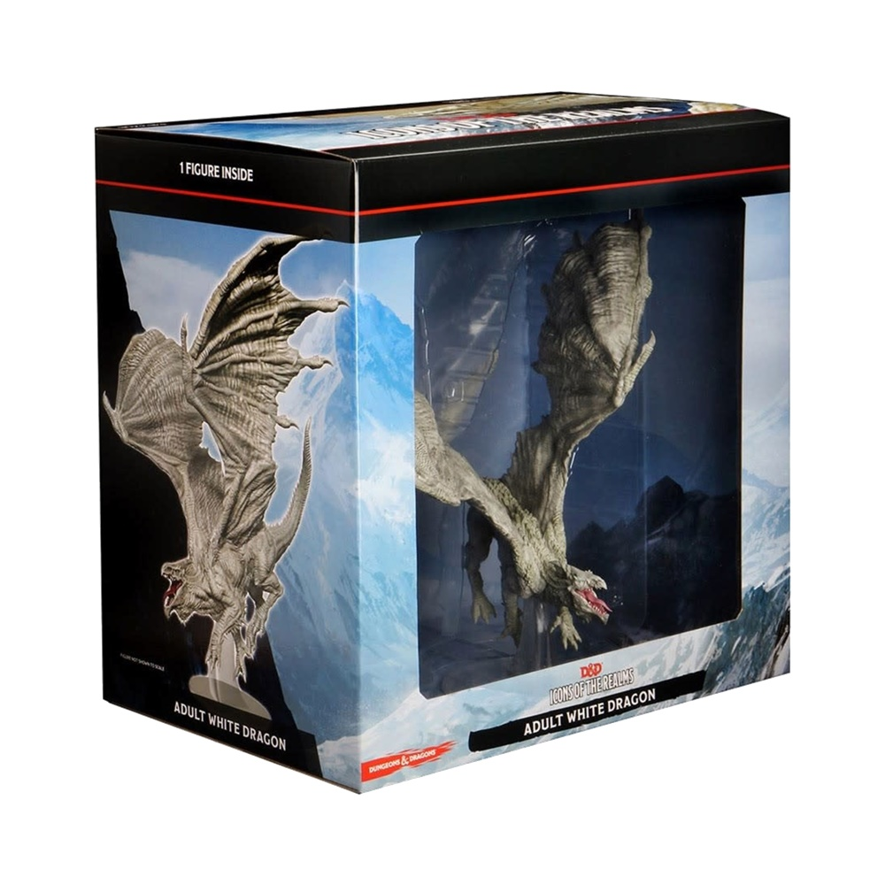 White Adult Dragon - Icons of the Realms Premium Figures - Miniaturas Dungeons and Dragons (D&D)
