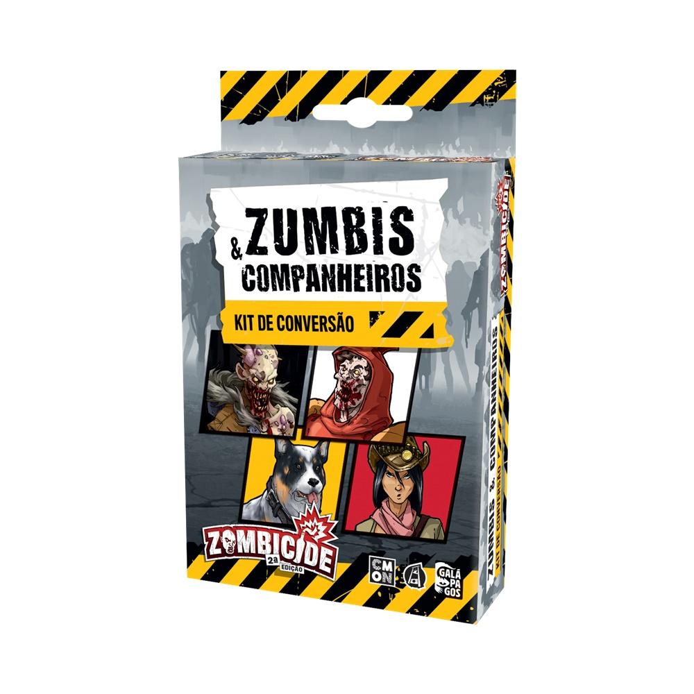 Zombicide (2ª Edicao): Kit de Conversão Zumbis e Companheiros - Expansão - Galápagos Jogos (em português)