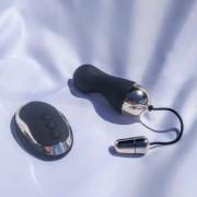 Bullet Ondulado Recarregável com Controle Sem Fio
