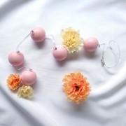 Colar Tailandês com 5 Bolas Médio Rosa para Pompoarismo